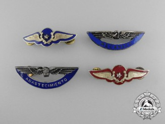 A Lot of Four Chilean Air Force Badges