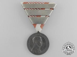 An Austrian Bravery Medal; Silver Grade, 2nd Class, Karl I (1917-1918)