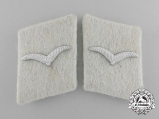 "A Pair of Luftwaffe Collar Tabs;  LW-Panzer-Div. ""Hermann Göring"""