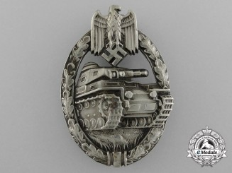 "A Highly Desirable Silver Grade Tank Badge by Juncker - in ""Neusilber"""