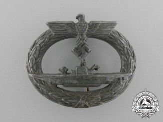 A Second War German Submarine Badge; unmarked