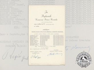 "A Croatian WW2 Document for the Members of Waffen-SS ""Prinz Eugen"" Division"