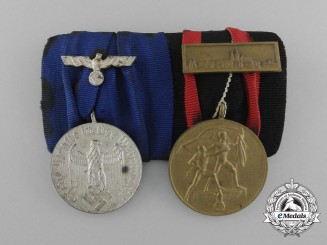 A Second War Army/Heer Long Service Medal Pair