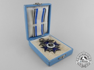 A Bavarian Military Merit Order; 4th Class Merit Cross with Swords & Case