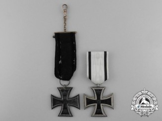 Two Iron Crosses 1914 2nd Class