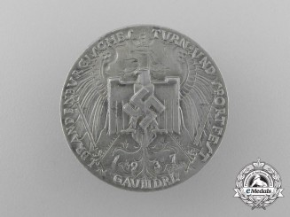 Germany. A 1937 DRL Brandenburg Gymnastics and Sport Festival Badge