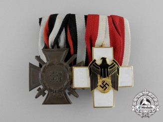A Second War DRK German Red Cross Medal Bar with two Awards