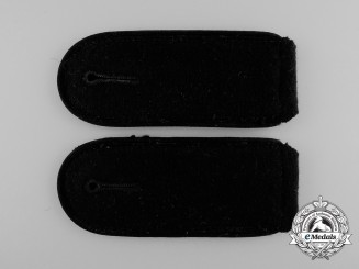 A Mint Pair of Waffen-SS Pioneer/Engineer Enlisted Man's Shoulder Boards