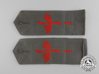 A Rare Set of First War Prussian Aviation Department No. 1 Shoulder Straps