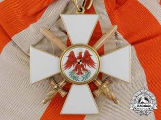 A Rare Prussian Order of the Red Eagle, Cross 1st Class with Swords, c. 1860-70
