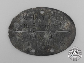 A Waffen-SS Maintenance Detachment 11 Nr. 6 Nordland Identification Tag