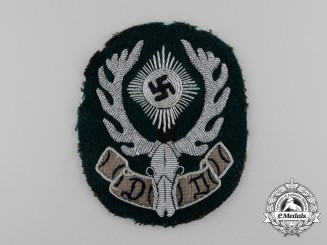 A Fine Quality German Hunter's Society Sleeve Patch Insignia