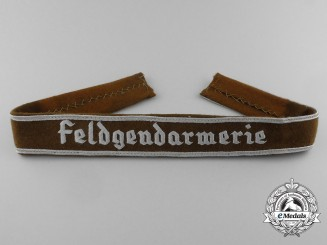 A Feldgendarmerie (Military Police) Officer's Cuff Title