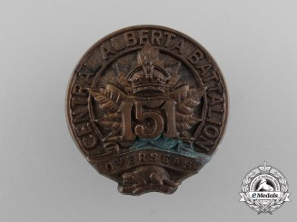 A 2nd Version First War 151st Infantry Battalion Cap Badge