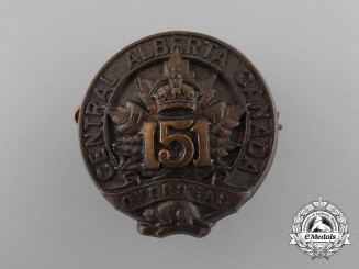 A 1st Version First War 151st Infantry Battalion Cap Badge
