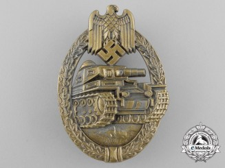 A Mint Bronze Grade Tank Badge by Ferdinand Wiedmann