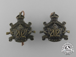 A First War 202nd Canadian Infantry Battalion Collar Tab Pair