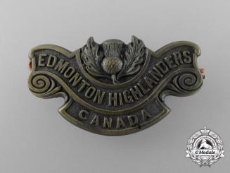 """A First War 194th Infantry Battalion """"Edmonton Highlanders"""" Shoulder Title"""