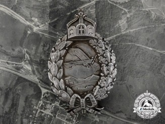 A 1917 Reconnaissance Pilot Badge in Silver with Documents to Friedrich Schrader; 257th Detachment