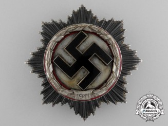 A Scarce German Cross in Silver by Deschler;  Heavy Version