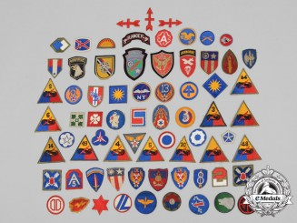 A Lot of 70 Second War American Division Insignia Patches