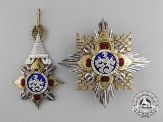 Thailand, Kingdom. A Most Noble Order of the Crownm Knight Grand Cordon (Special Class) Set