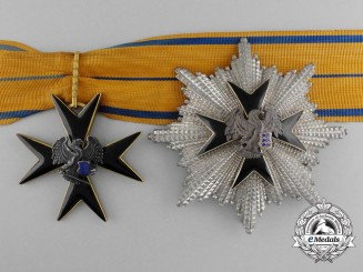 An Estonian Order of the Eagle Cross; 2nd Class Grand Commander Set