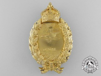 A Rare Prussian Naval Sea Pilot's Badge by Godet & Sohn, Berlin; Published Example