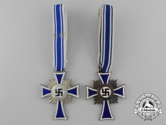 A Lot of Two Mother's Crosses; Silver and Bronze Grade
