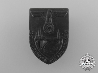 """A 1942 """"First District Council Day of Luxemburg"""" Badge"""