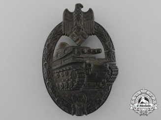 A Bronze Grade Tank Badge by A.S