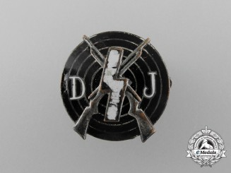 A Deutsche Jugend (DJ) Shooting Achievement Badge by Förster & Barth