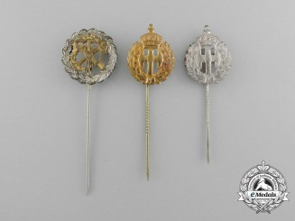 Three Belgian Stickpins