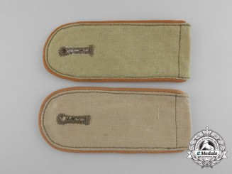 A Pair of DAK (Deutsches Afrika Korps) Luftwaffe Signals Shoulder Boards