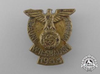 A 1933 Wiesbaden Braune Messe (Jewish Merchant/Goods Boycott Fair) Badge