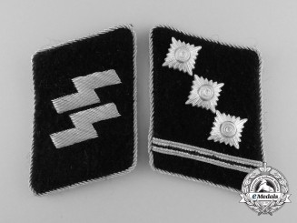 A Mint Set of Waffen-SS Obersturmführer Collar Tabs
