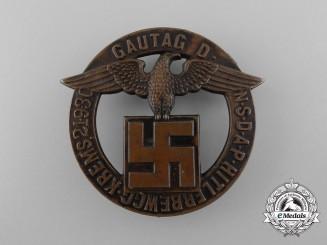 """A 1930 NSDAP """"Führer Movement"""" Krems District Council Day Badge"""