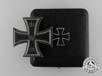 An Iron Cross First Class 1914 with Case; KO Marked