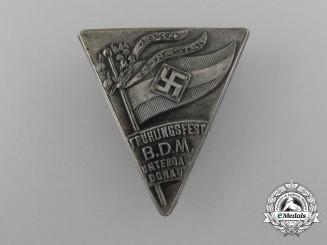A 1934 Untergau Donau Bund der Deutschen Mädel Spring Festival Badge