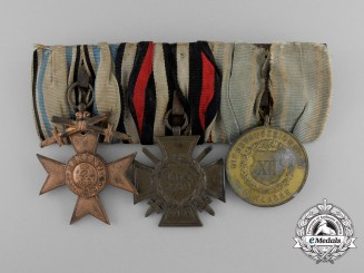 A First War Bavarian Long Service & Merit Cross Grouping