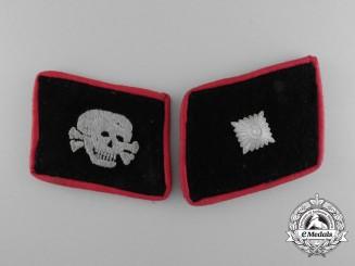 A Pair of Unterscharführer's Collar Tabs, Totenkopf Division - Sturmgeschütz/Artillery