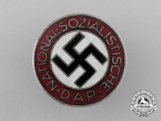 A NSDAP Party Member's Buttonhole Badge by Frank & Reif of Stuttgart