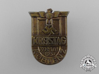 A 1937 Koblenz District Council Day Badge