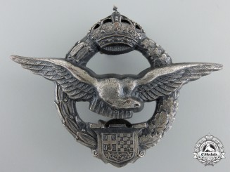 A Pre Second War Royal Yugoslavian Pilot's Badge