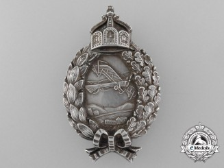 A First War Prussian Pilot's Badge by Carl Dilenius, Pforzheim