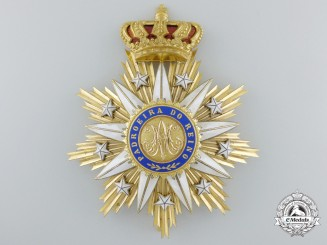 A Portuguese Order of Villa Vicosa; Grand Cross Star by Godet, Berlin