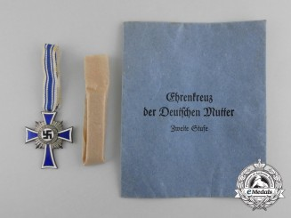 A Silver Grade Mother's Cross in its Original Packet of Issue by Fritz Zimmermann
