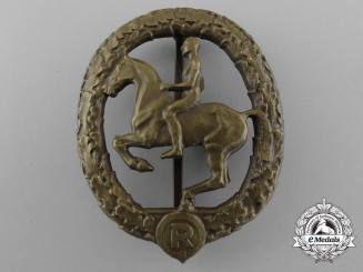 A Bronze Grade German Horseman's Badge by L. Christian Lauer
