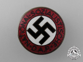 A NSDAP Party Member's Badge by Karl Friedrich Schenkel