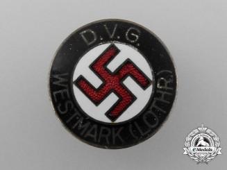 A Deutscher Volksgenossen Bund (DVG) Westmark Membership Badge